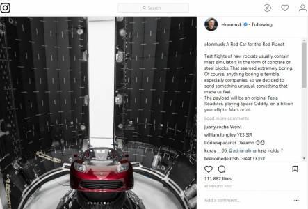 Мъск подготвя Tesla Roadster за изпращане до Марс