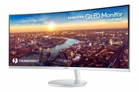 Най-новият извит QLED монитор на Samsung е оборудван с Thunderbolt 3