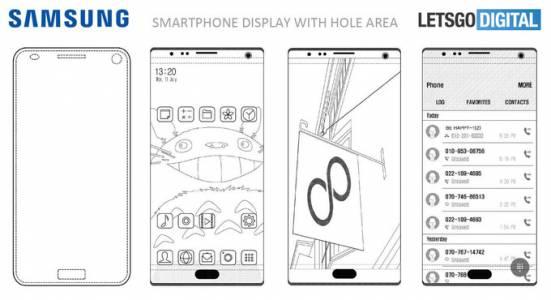 Samsung иска да вгради и камерата в дисплея на телефона