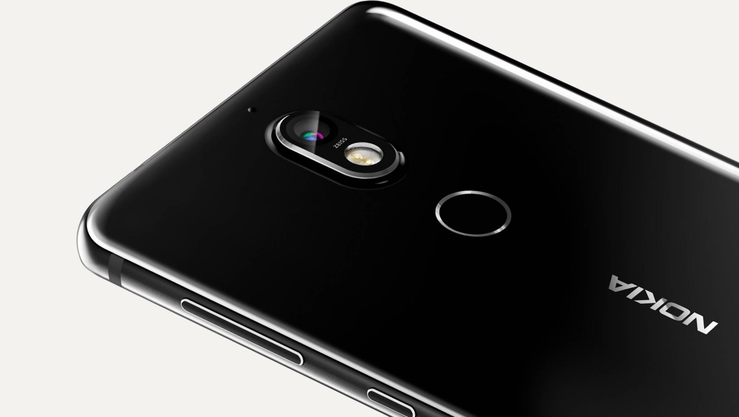 Снимка на Nokia 7+ показва безрамковия 18:9 дисплей на модела