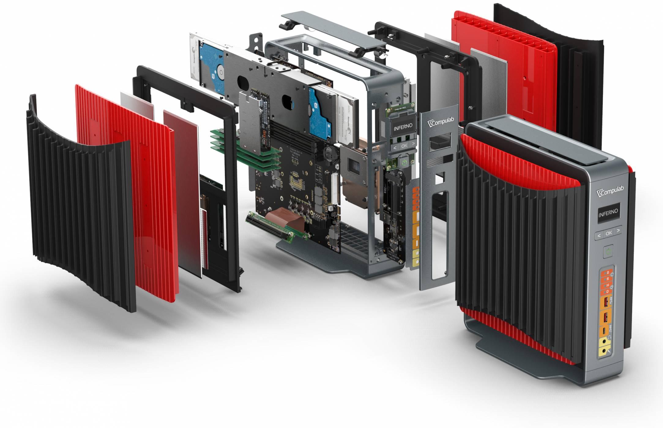 Компютър с GTX 1080 залага на охлаждане без вентилатори
