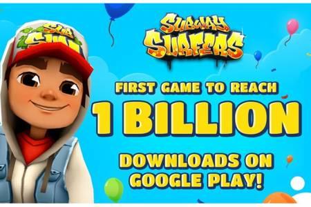 Subway Surfers е първата в света игра с един милиард сваляния от Play Store