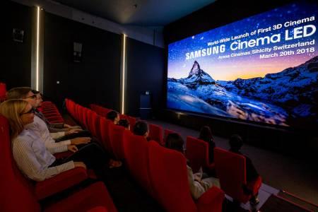 Първият 3D Cinema LED екран на Samsung очаква киноманите в Швейцария