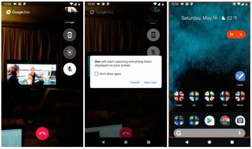 Google Duo получава опция за споделяне на екрана