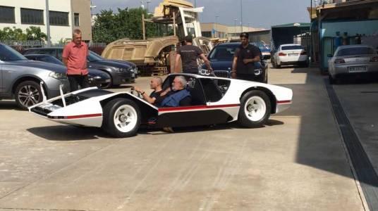 Уникалното Ferrari Pininfarina Modulo за пръв път в движение