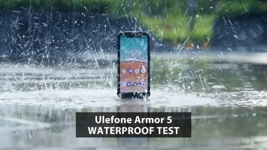 Видео - Ulefone Armor 5 издържа на брутални заливания с течности!