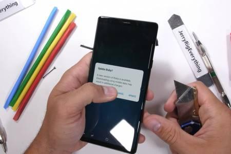Ахилесовата пета в теста за издръжливост на Galaxy Note 9 не е това, което очаквате