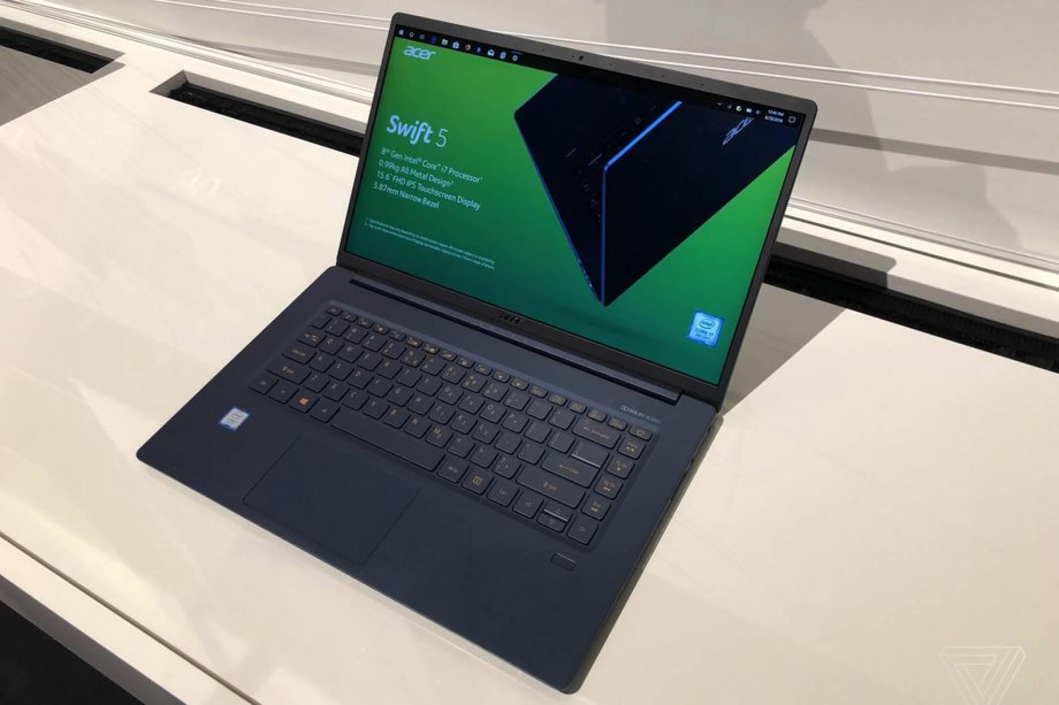 Acer Swift 5 е най-лекият 15-инчов лаптоп в света