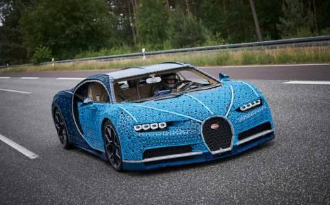 Това Bugatti Chiron от LEGO не само е удивително, но дори се движи