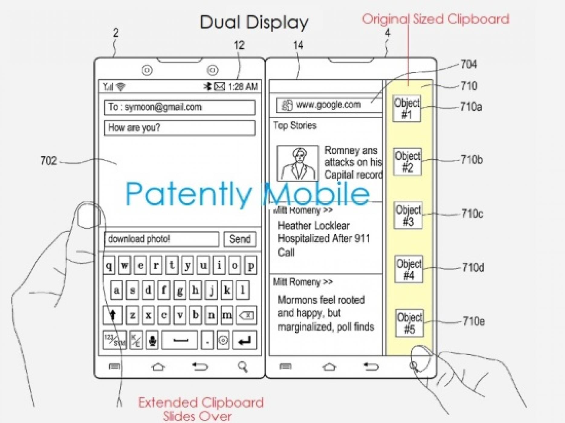 Вижте скици на два от възможните варианти за гъвкавия смартфон на Samsung