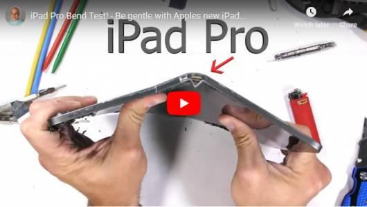 Новият iPad Pro се чупи като солета (ВИДЕО)