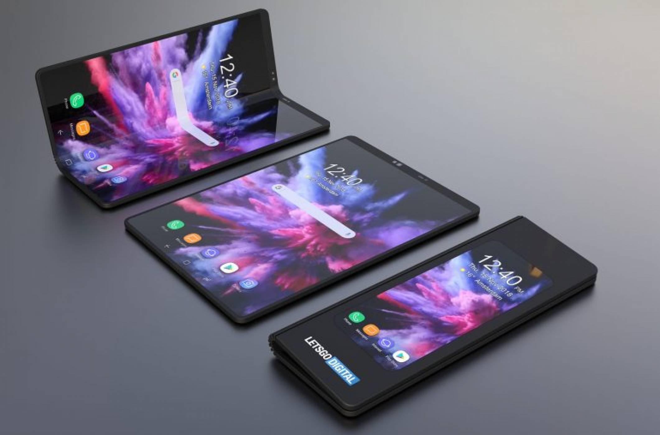 Вижте рендъри на гъвкавия смартфон на Samsung