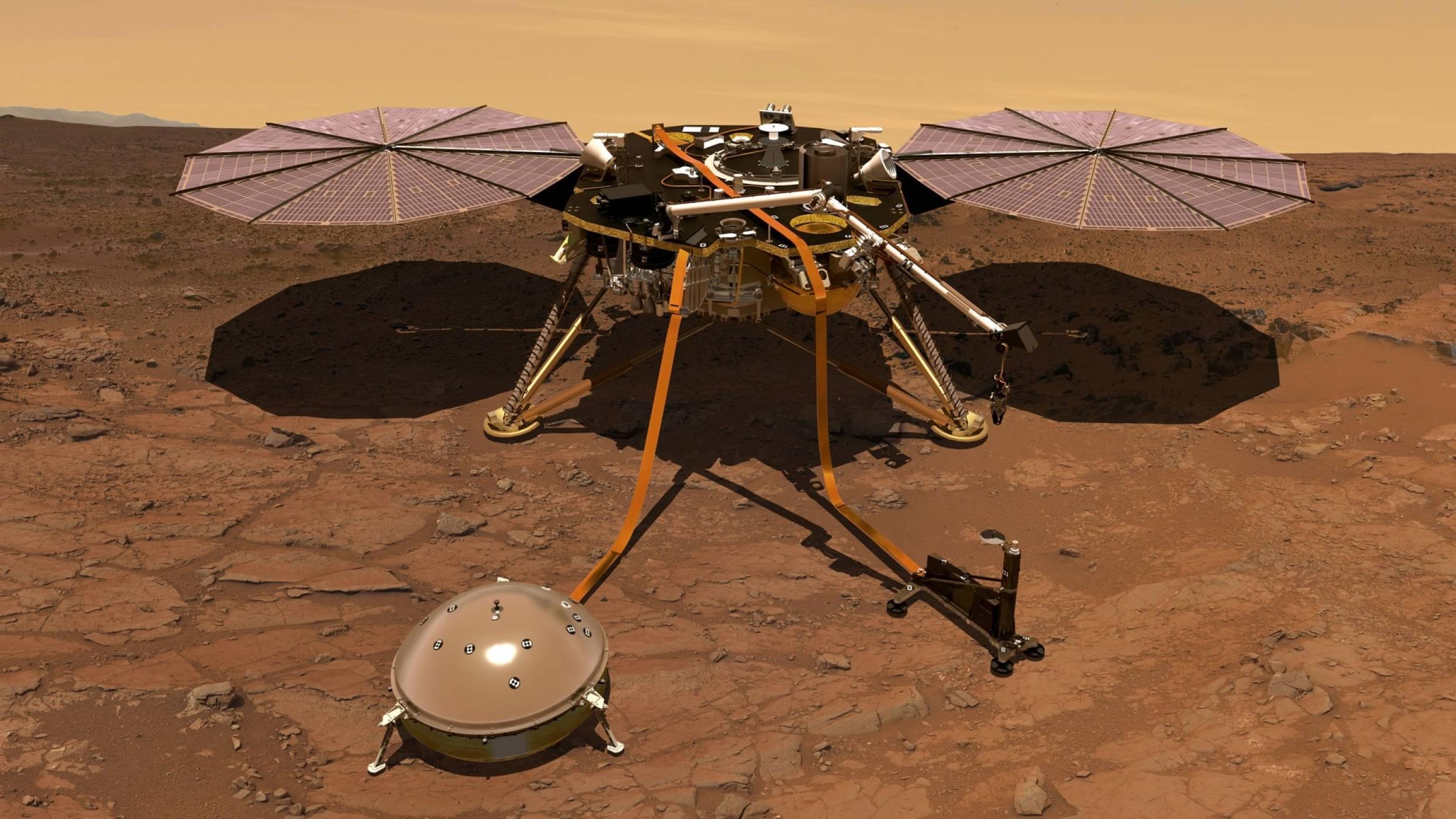 Чуйте как звучи вятърът на Марс благодарение на InSight