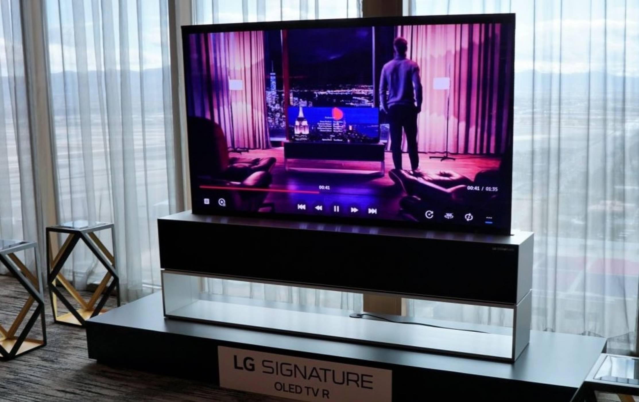CES 2019: Новият OLED телевизор на LG се навива на руло, когато не го гледате (ВИДЕО)