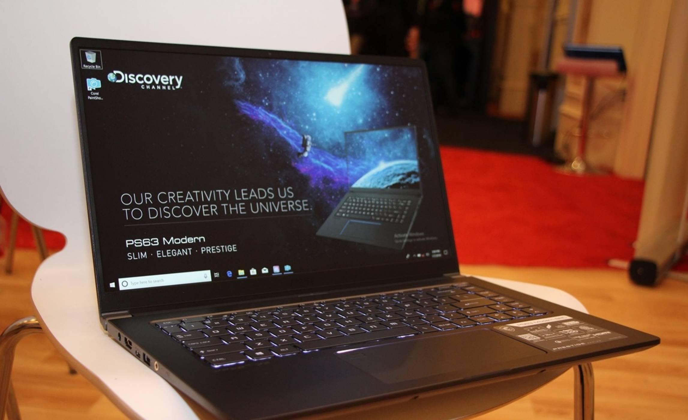CES 2019: С MSI PS63 Modern може да творите навсякъде и без компромис