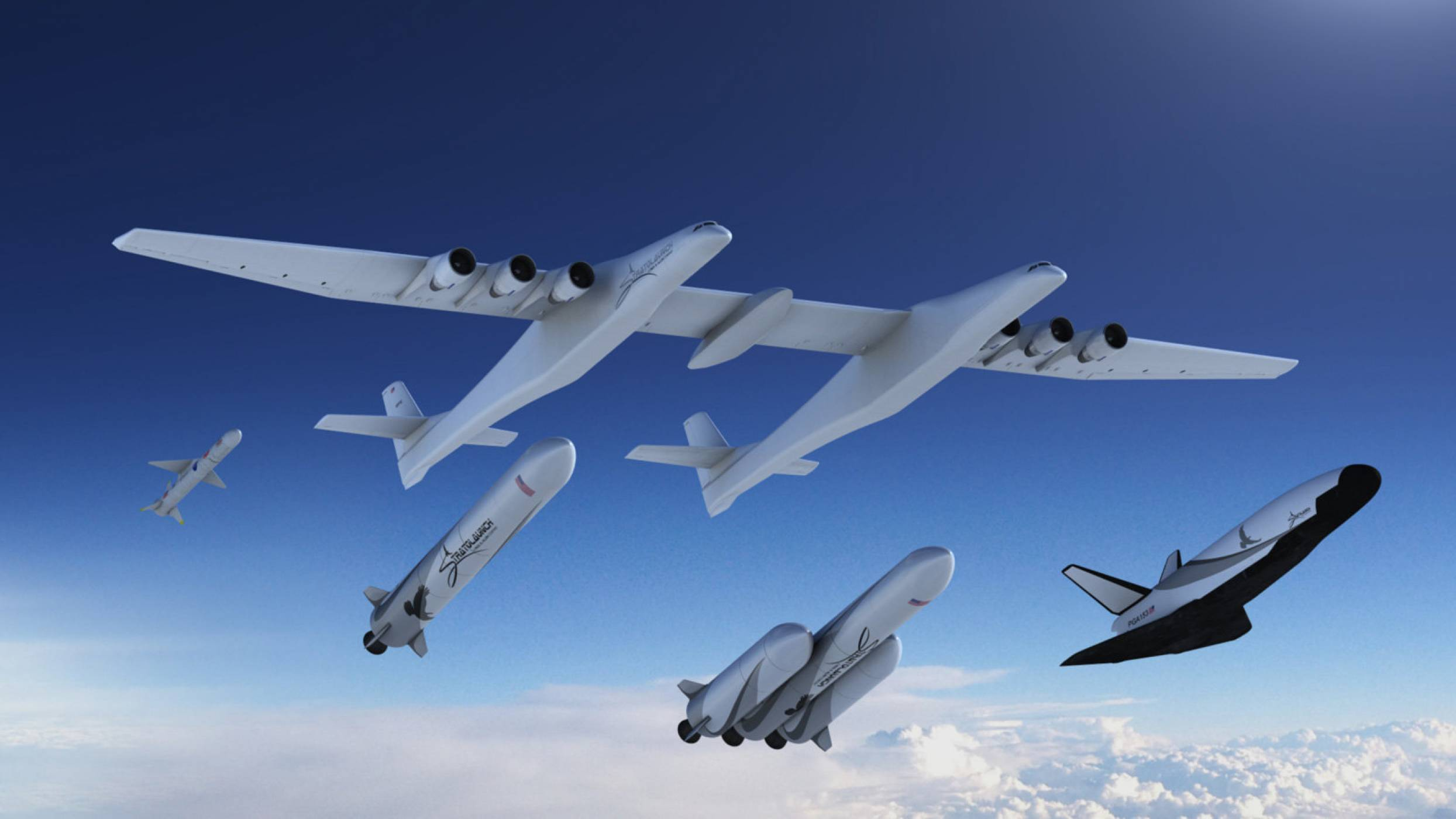 Облаците около самолета гигант Stratolaunch стават все по-непрогледни