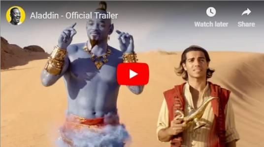 """Синият Уил Смит пее в новия трейлър на """"Аладин"""" (ВИДЕО)"""