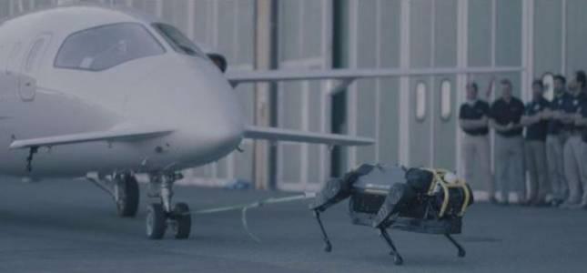 Куче-робот влачи 3-тонен самолет и нас (все още) не ни е страх (ВИДЕО)