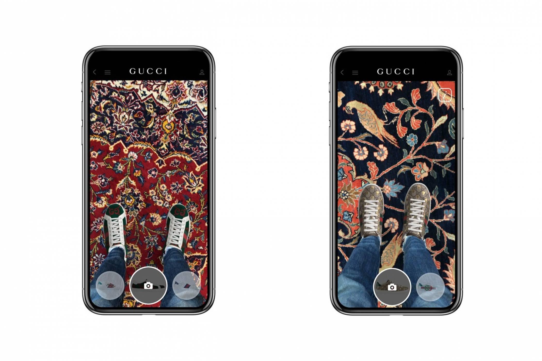 AR приложение на Gucci ви позволява да пробвате обувки от вкъщи