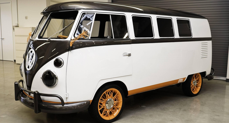 VW Type 2 е е-версия от бъдещето на микробуса икона