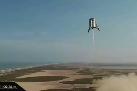 Новата ракета на SpaceX достигна най-голяма височина в тест (ВИДЕО)