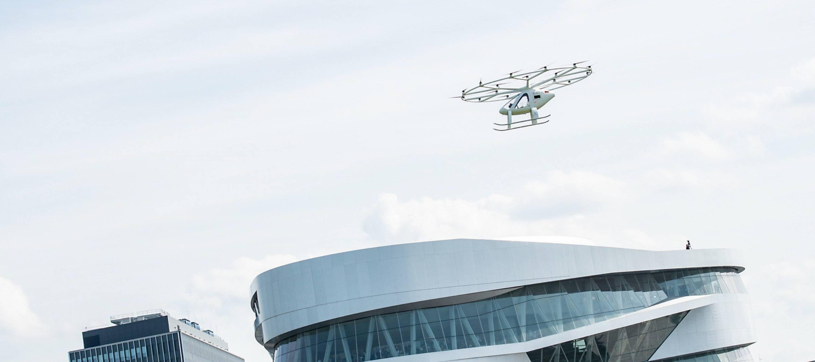 Вижте летящото такси на Volocopter в действие за пръв път (ВИДЕО)