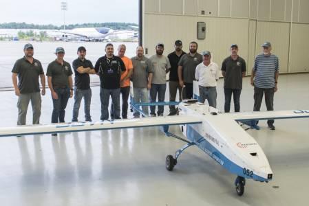 Вижте първия полет на дрон със самолетен двигател (ВИДЕО)