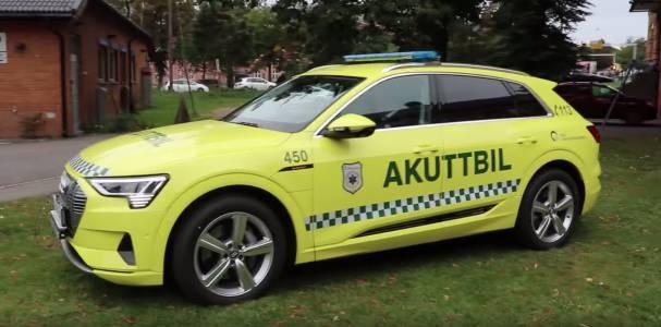 Само в Норвегия: Audi e-tron стана линейка