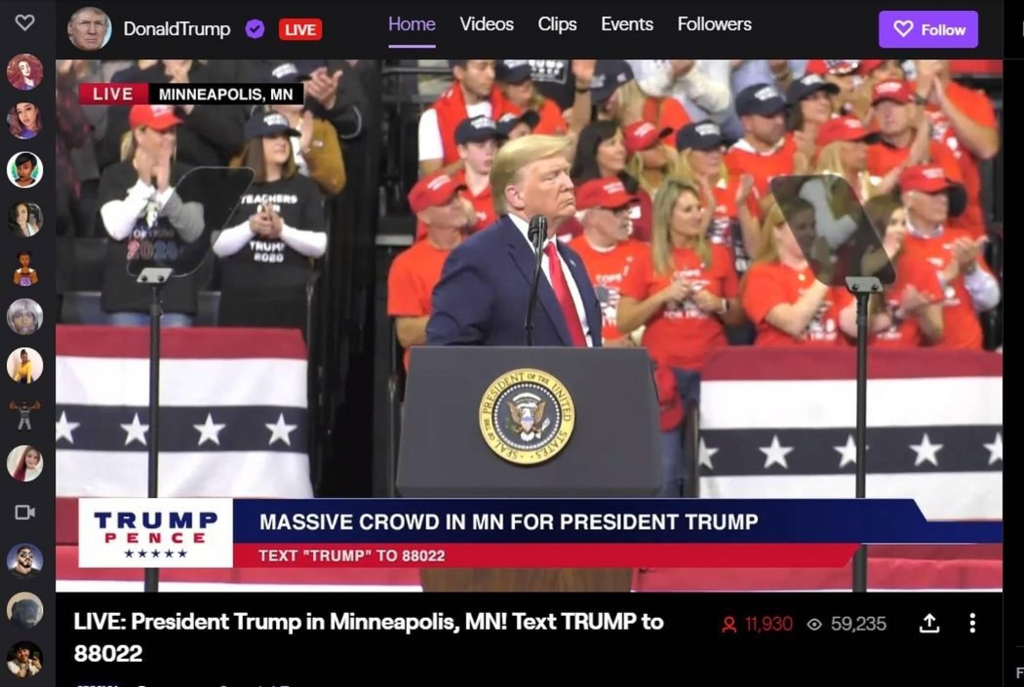 Доналд Тръмп е най-новият стриймър в Twitch