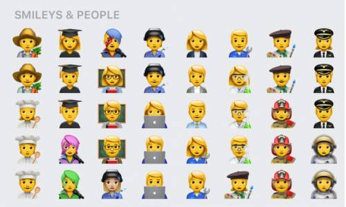 Apple представи нов сет от полово неопределени емоджита