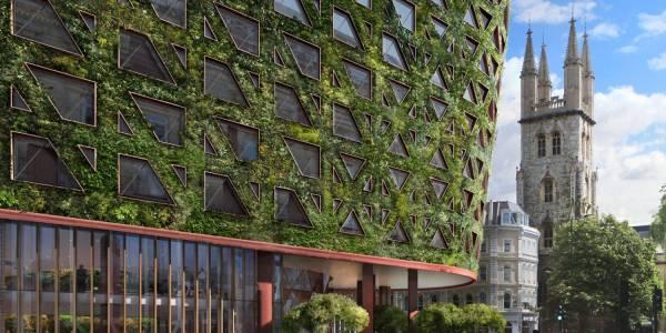 Най-голямата зелена стена в Европа покрива сграда в Лондон