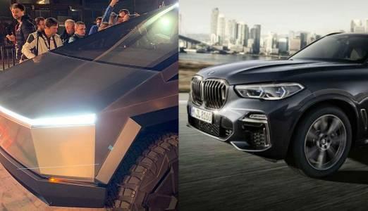 BMW се подиграва на Tesla Cybertruck с реклама на брониран X5