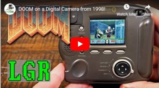 Doom тръгна и на фотоапарат от 1998 г. (ВИДЕО)