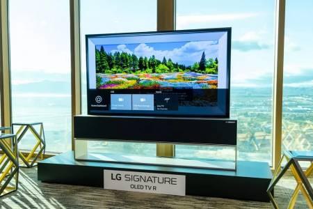 Ето го новия вариант на развиващия се на руло телевизор на LG