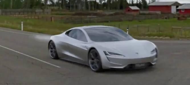 Tesla Roadster с част на SpaceX лети като ракета на колела (ВИДЕО)