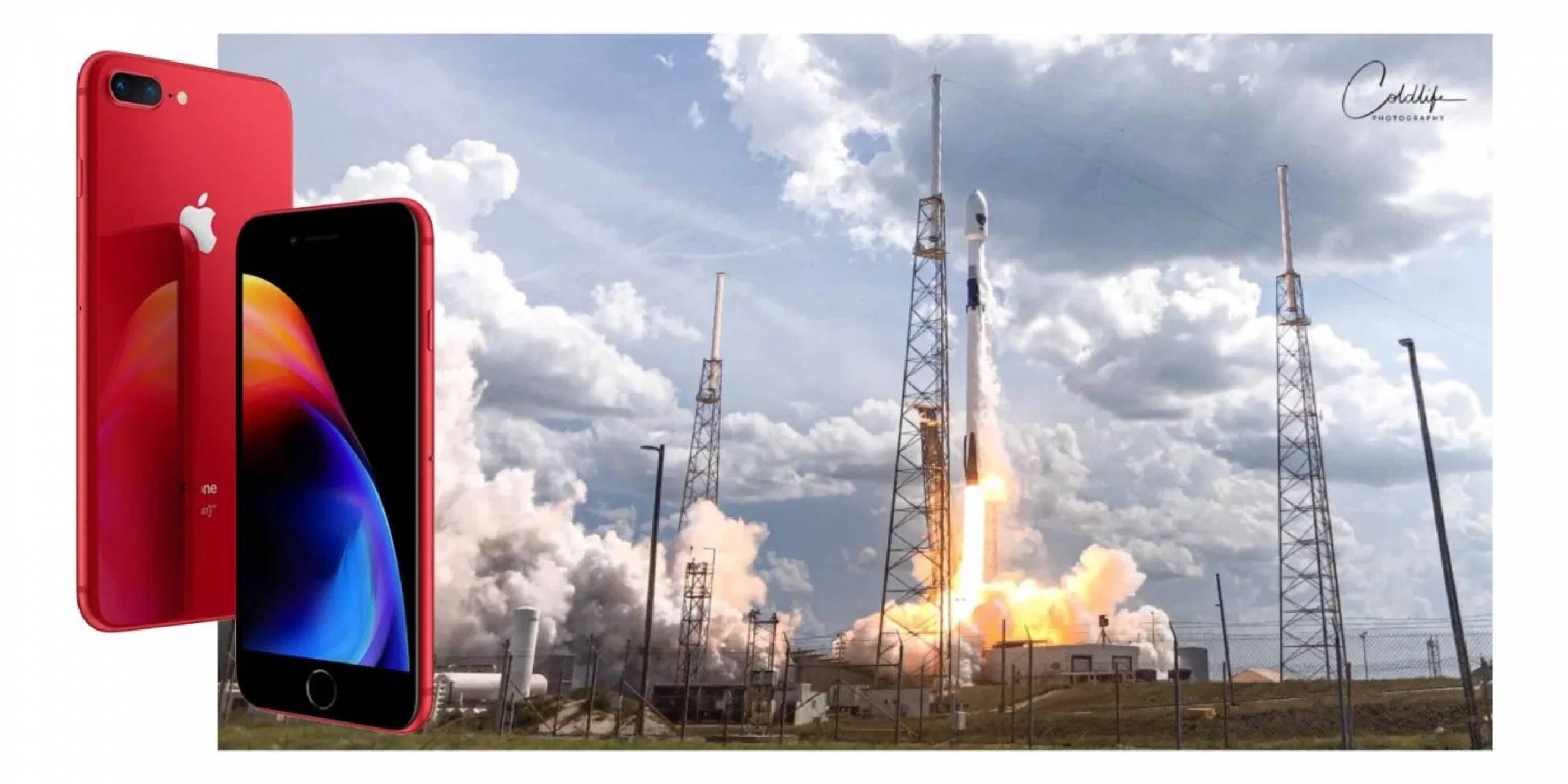 Уникални снимки от излитането на Falcon 9, заснети само с iPhone 8 Plus