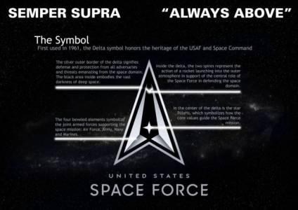 Разкриха официалното лого и мото на Space Force