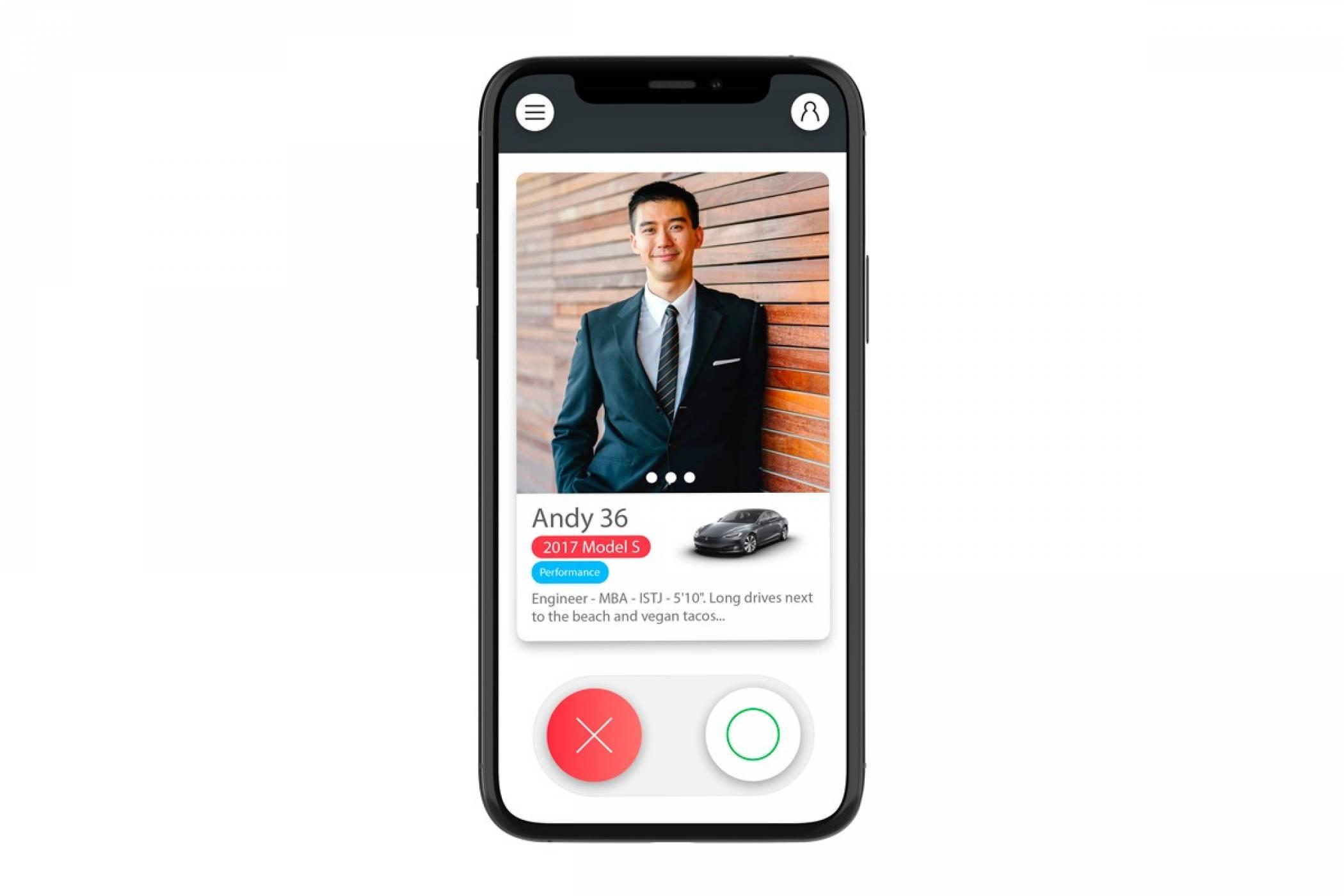 Това приложение за запознанства е само за собственици на Tesla