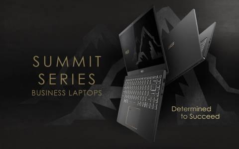 MSI представи своята нова линия лаптопи за бизнеса - Summit, както и новото си лого