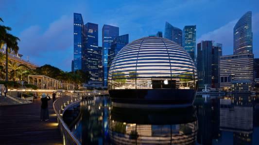 Извънземният магазин на Apple в Сингапур отваря тази седмица
