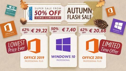 Есенен пазар: рекордно ниски цени за Windows 10!
