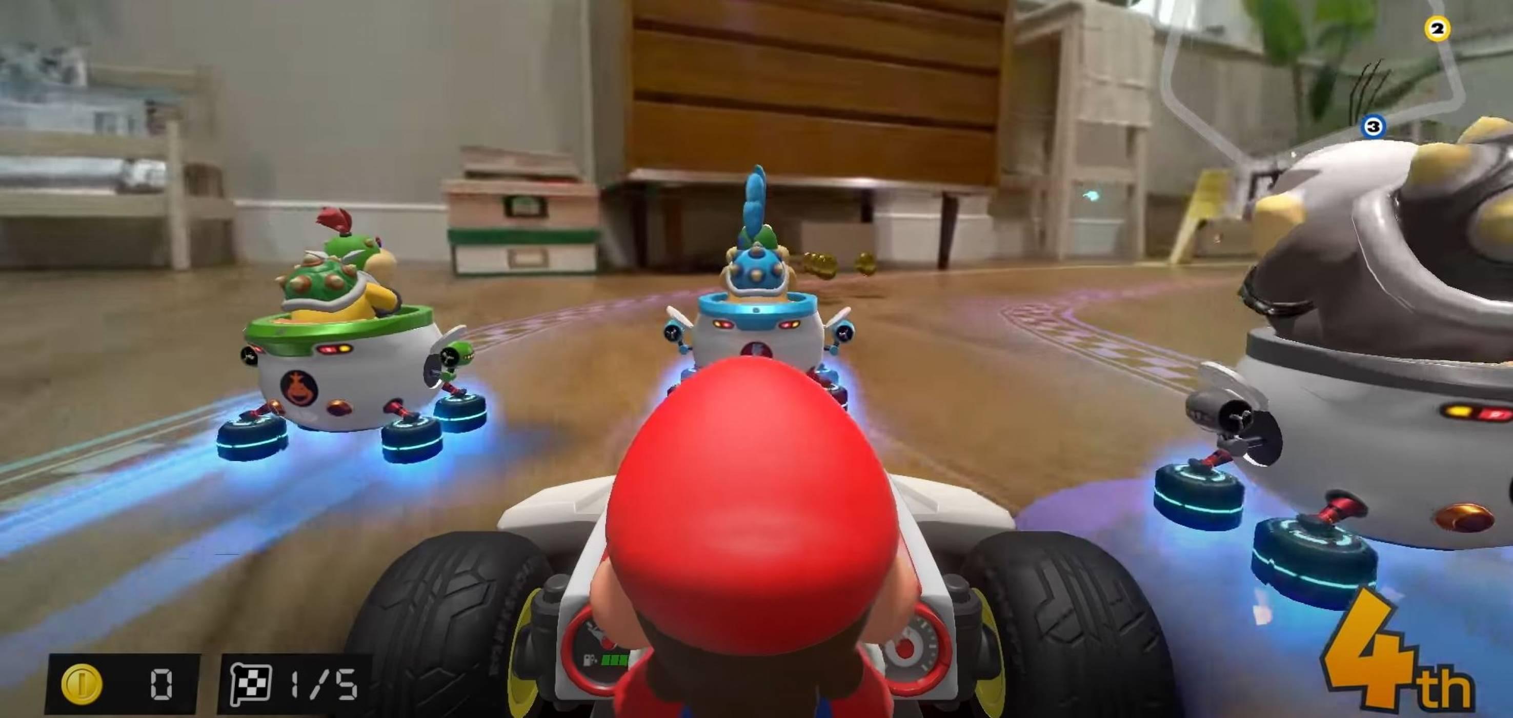 Оставете количките с дистанционно в миналото: картингът със Super Mario излита иззад дивана (ВИДЕО)