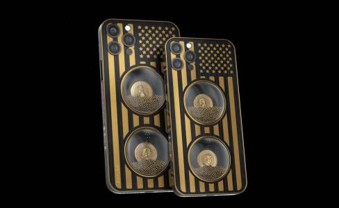iPhone 12 Pro със златен лик на Тръмп или Байдън - защо не?