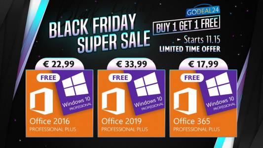 Black Friday супер оферти: Грабнете Windows 10 като безплатен подарък и вземете до 55% намаление на офис софтуер