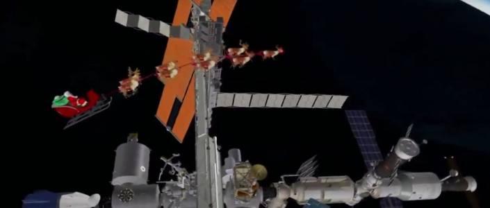 Дядо Коледа раздаде подаръците си в Космоса (ВИДЕО)