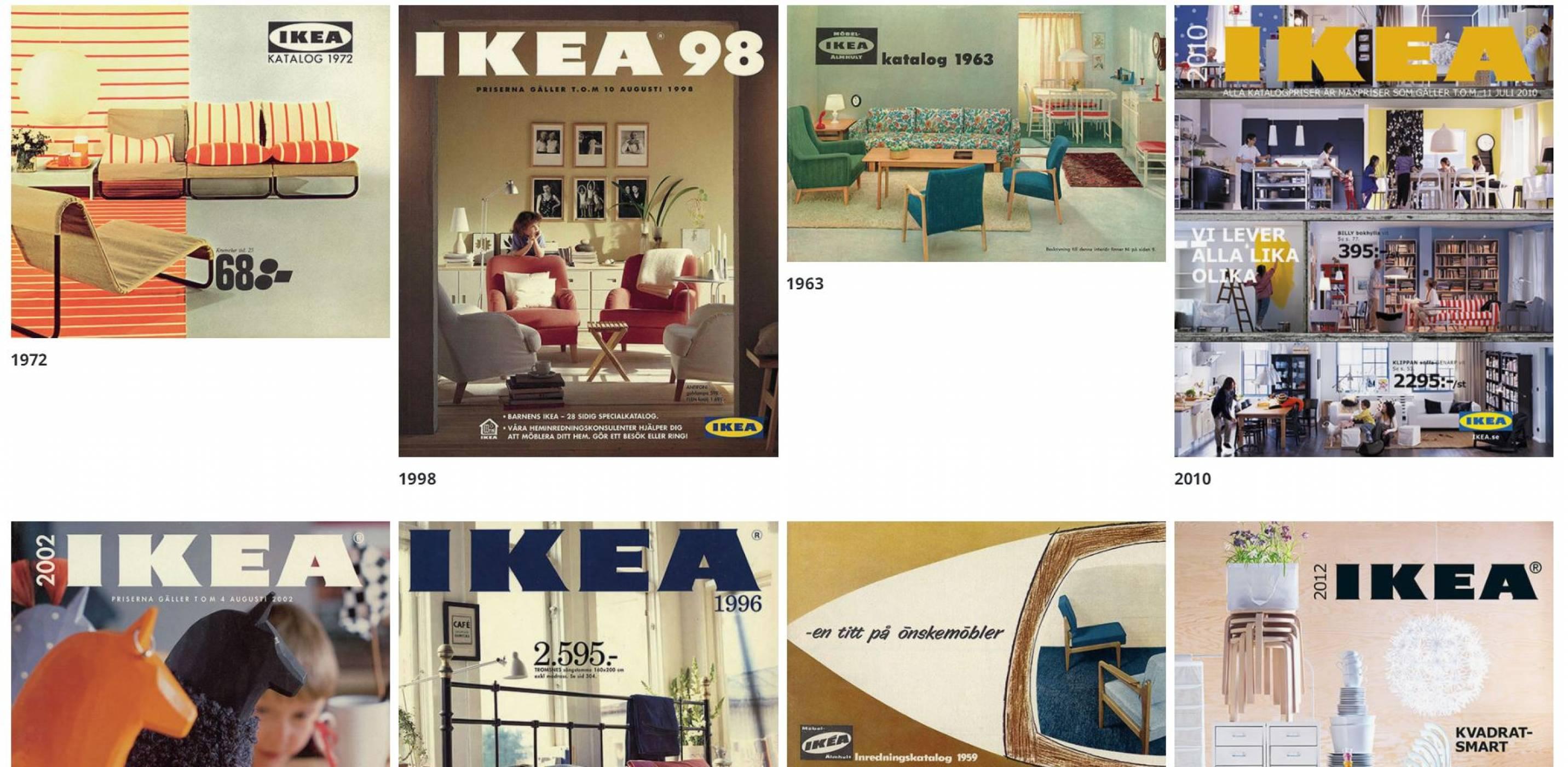 Разгледайте всички каталози на IKEA, издадени през последните 70 години