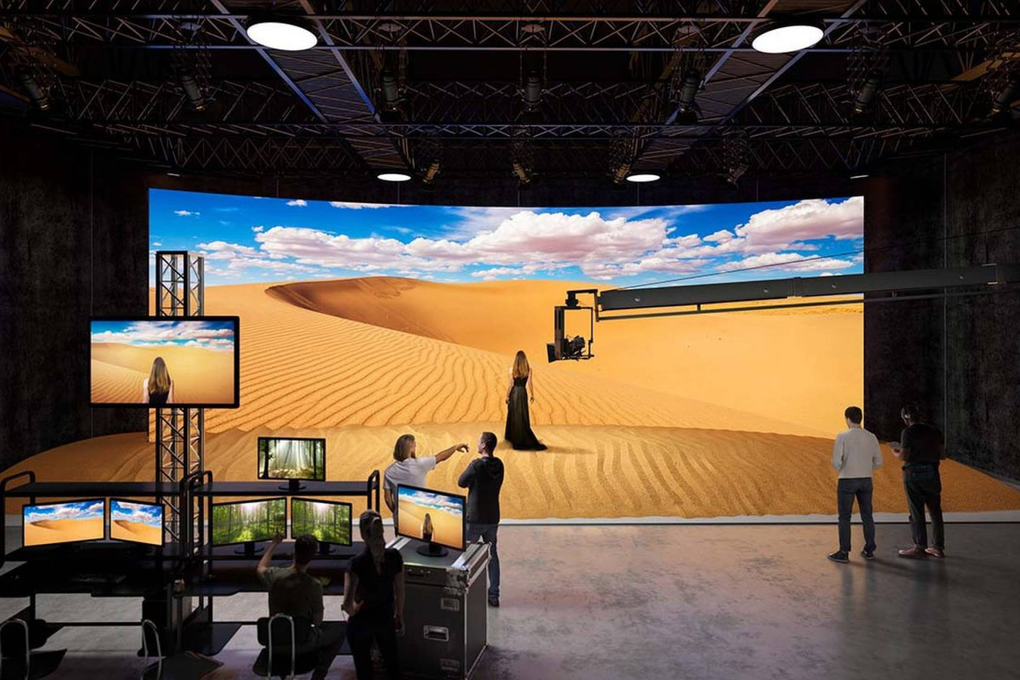 Sony тества смазваща microLED алтернатива на зеления екран по време на снимките на The Mandalorian (ВИДЕО)