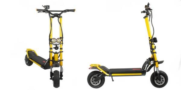 Този е-скутер има ускорение от 0 до 100 за 4.8 секунди