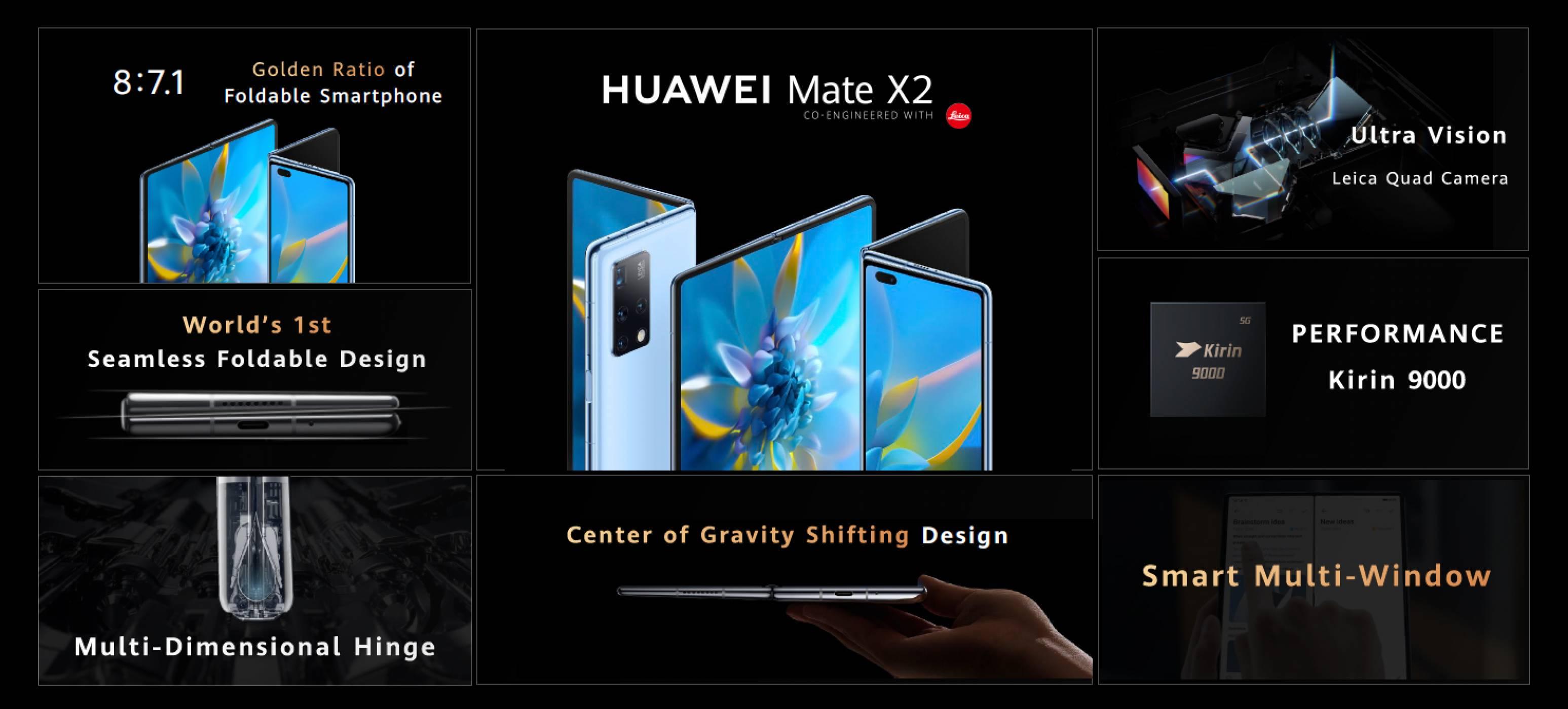 Новият сгъваем HUAWEI Mate X2 е тук!