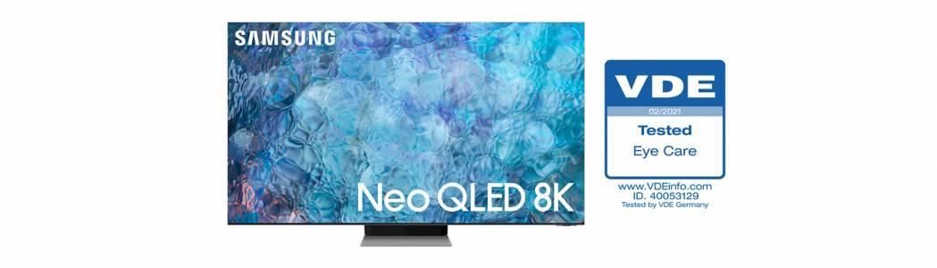 """Телевизорите Neo QLED на Samsung получават първи в индустрията сертификат """"Безопасност за зрението"""""""